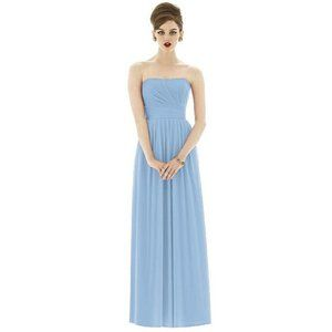 Alfred Sung Strapless Grecian Bridesmaid Dress